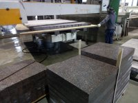 Release of granite paving slabs