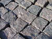 Chopped granite paving manufacture sale