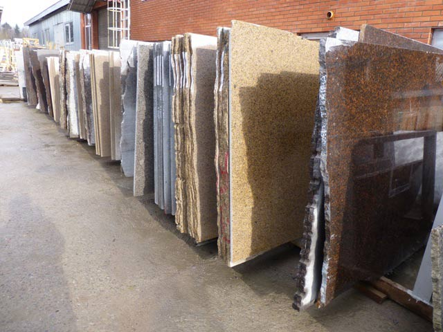 Granite slabs made of granite Russia, Finland and Kazakhstan