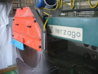 Section of the main cut. Disk machine Terzago
