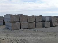 The price of granite blocks from the warehouse in St. Petersburg