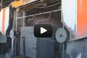 YouTube Video Manufacture of granite slabs of Balmoral Red, Baltic brown, Kuru grey