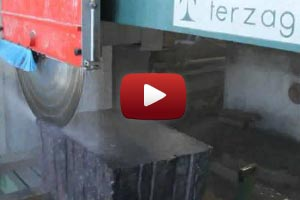 YouTube Video Cut granite slabs and curbs<br> on the machine TERZAGO RTS 37