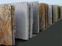 Sale granite and marble slabs