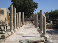 Pillars and columns made of granite