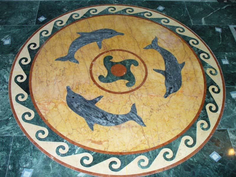 Мозаичное панно производства ПетроМрамор