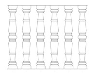 Drawing No. 2 of chiseled baluster from granite and marble