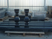 "Tapered baluster from black granite Gabbro-diabase ""Another river"""