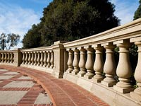 Balustrades made of natural stone. History of creation and application.