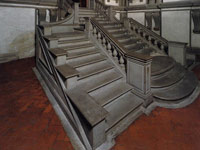 Michelangelo. Staircase with balustrades from the stone of the Laurentian library in Florence
