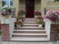 Prices for finished granite steps and stairs