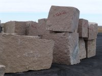 "Blocks of granite Zheltau-1 Red, Zheltau-2 Yellow and Delta-9 Jalgyz stock company ""Petromramor"" in St. Petersburg"