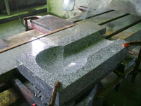 Production of a water intake tray. Granite Renaissance
