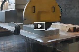YouTube Video The cutting granite slabs