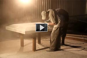 YouTube Video Manufacturing of a granite pedestal